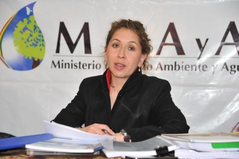 ministra de medio ambiente abi
