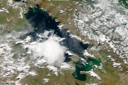 Imagen Satelital del lago en Abril 2015