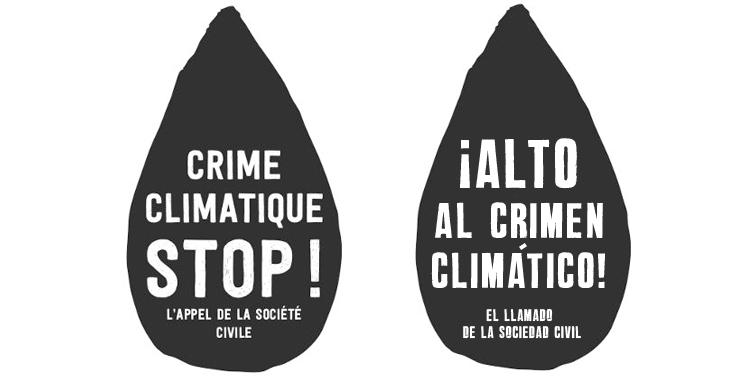 alto al crimen climático